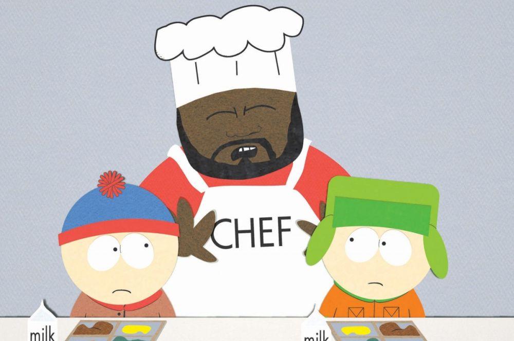 Пожалуй, самым известным поваром мира анимации является Шеф из сериала «Южный парк». На протяжении нескольких сезонов чернокожий школьный повар оставался одним из образующих персонажей, однако после разногласий с создателями мультфильма проект покинул музыкант Айзек Хейз, озвучивавший Шефа.