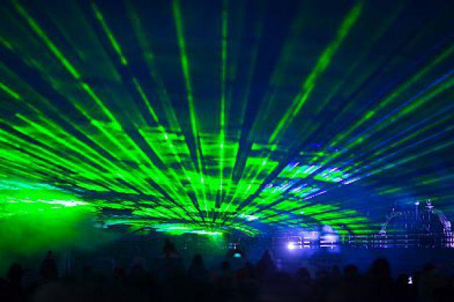 Лазерное шоу.