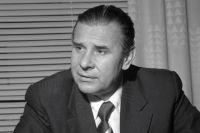 Вратарь сборной команды СССР по футболу, один из лучших вратарей мирового футбола Лев Иванович Яшин, 1979 г.