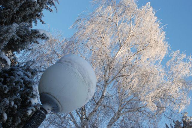 В Омск пришла зима.