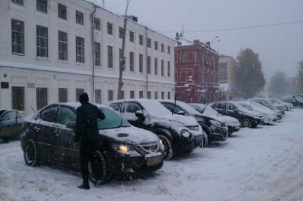 Машинам тоже холодно