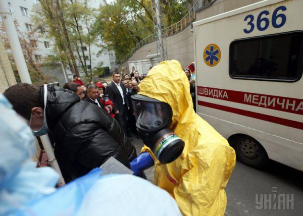 Тренировочные учения на выявлении больного с подозрением на лихорадку Эбола