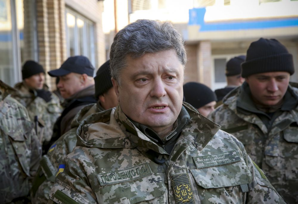 Петр Порошенко на Донбассе