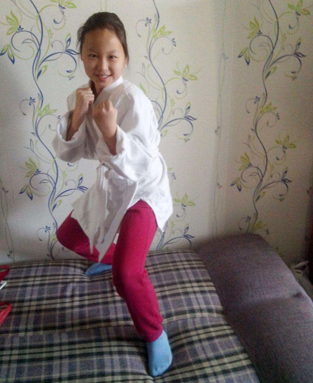 Участник №3. Дулма Раднаева занимается самбо и верит в будущие победы.