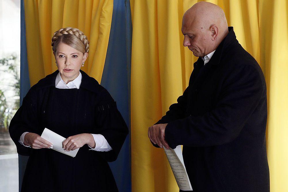Лидер партии «Батькивщина» Юлия Тимошенко и ее муж Александр голосовали в Днепропетровске.