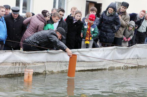 Посетители мероприятия с интересом наблюдали за промышленными процессами рыбзавода.