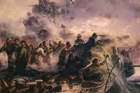 Фрагмент картины «Крейсер Варяг» кисти Петра Мальцева.