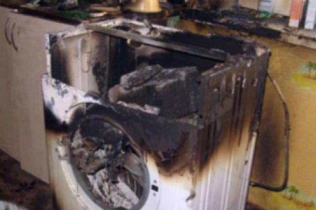 Пожар начался от короткого замыкания в системе стиральной машины.