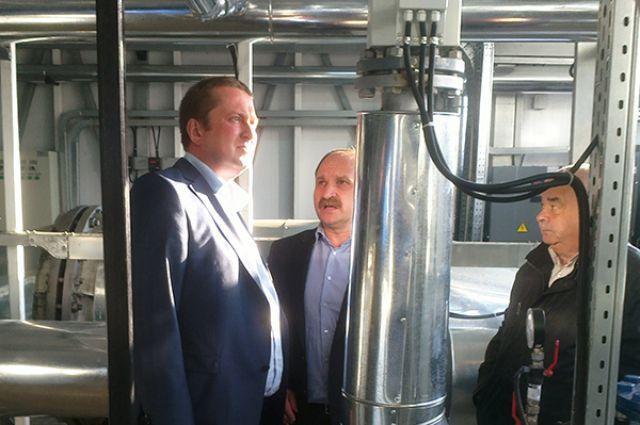 Сергей Лютаревич и Максим Федосеев проинспектировали новую котельную.