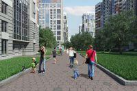 Сквозная пешеходная аллея - часть зоны отдыха.