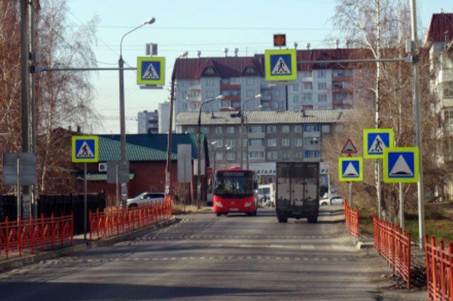 Новые пешеходные переходы в Иркутске.