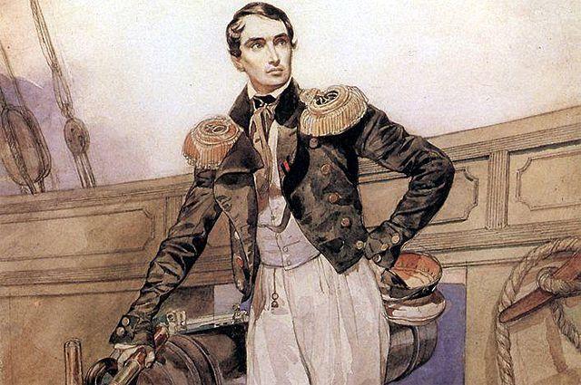 Корнилов на борту брига «Фемистокл», 1835 г. Картина Карла Брюллова