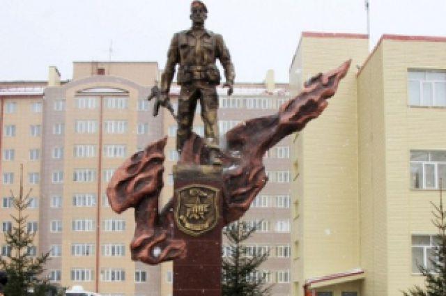 Памятник погибшим бойцам подразделений спецназначения.