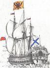 «Полтава» - первый линейный корабль русского флота, и первый - построенный в Петербурге. Строительством судна руководил Петр I. Длина - 34,6 ширина - 11,7. Имел на вооружении 54 пушки 18, 12 и 6-ти фунтового калибров. После вступления в строй в 1712 году этот корабль участвовал во всех кампаниях русского Балтийского корабельного флота в годы Северной войны, а в мае 1713 года, прикрывая действия галерного флота по овладению Гельсингфорсом, был флагманским кораблем Петра I.