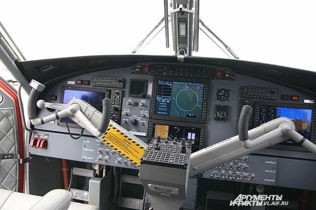 Приборная панель самолёта самолёт DHC-6.