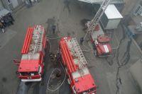 Пожар на кондфабрике в Херсоне