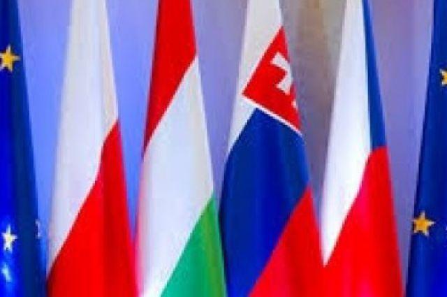 Флаги стран Вышеградской четверки