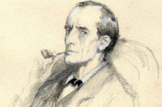 Шерлок Холмс. Иллюстрация Сидни Паджет. 1904 год.