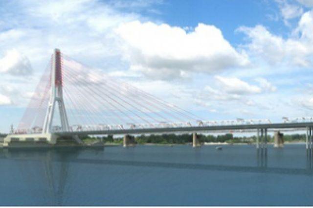 Один из возможных будущих вариантов четвёртого моста через Обь.