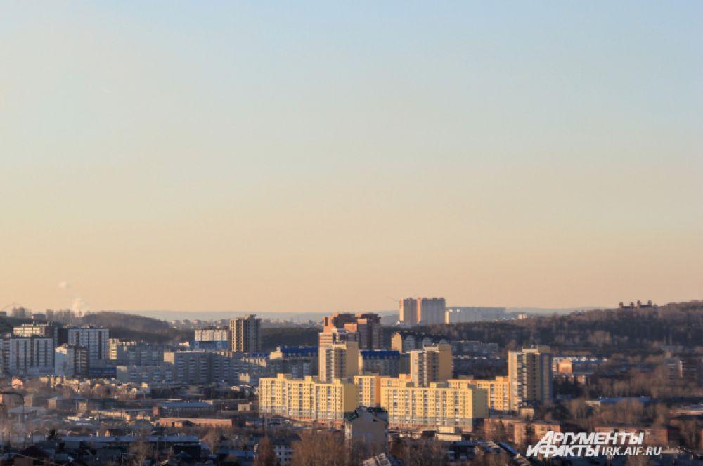 В Иркутске есть несколько высоких точек, окуда открывается панорамный вид.