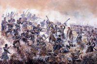 Двадцатый пехотный полк в сражении при Инкермане. Картина Давида Роуландса.