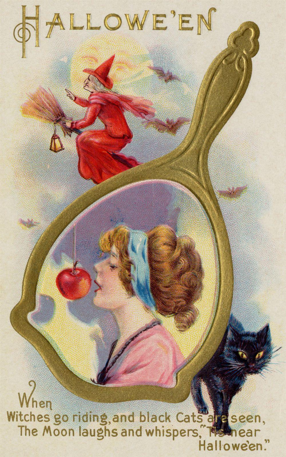 Магия Хэллоуина – попытайся откусить висящее на веревке яблоко