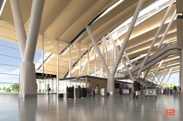 Интерьер аэровокзала (макет)