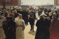 Прием волостных старшин Александром III во дворе Петровского дворца в Москве. Картина И. Репина (1885—1886).