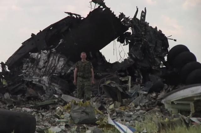 На месте сбитого военного самолета