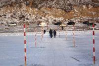 Ледовый переход в Киренске.