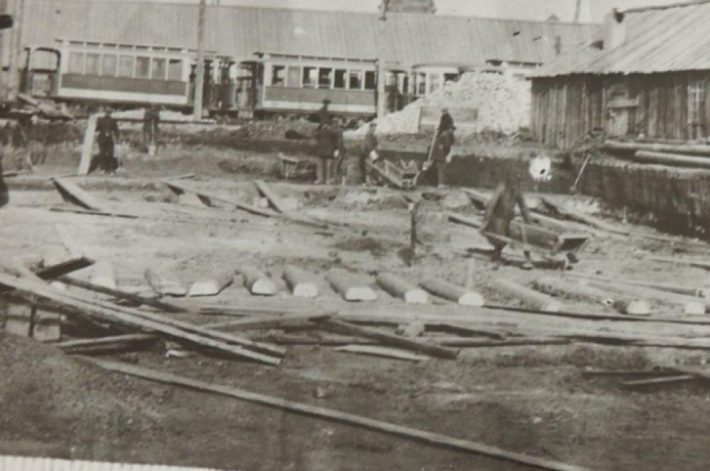 Строительство трамвая в Царицыне 1911-1912 годы.