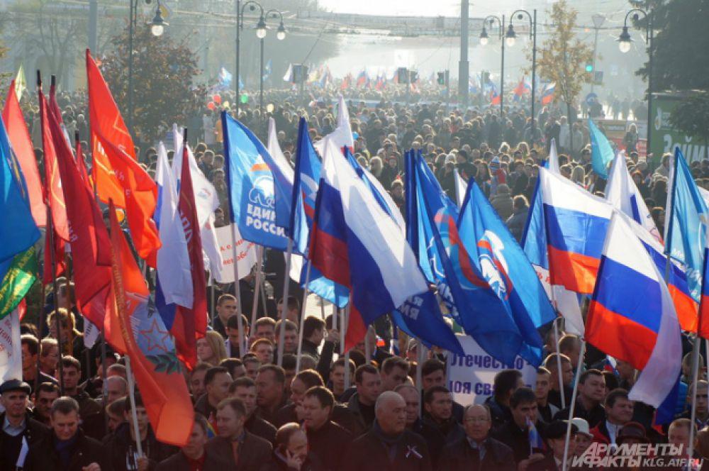 Многолюдными митингами, шествиями, концертами, народными гуляниями отметили праздник жители Калининградской области.