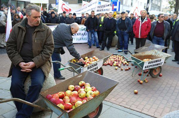 Фермеры требуют компенсации ущерба на общую сумму в 145 миллионов евро, который они получили из-за введенных Российской Федерацией ответных ограничительных мер.
