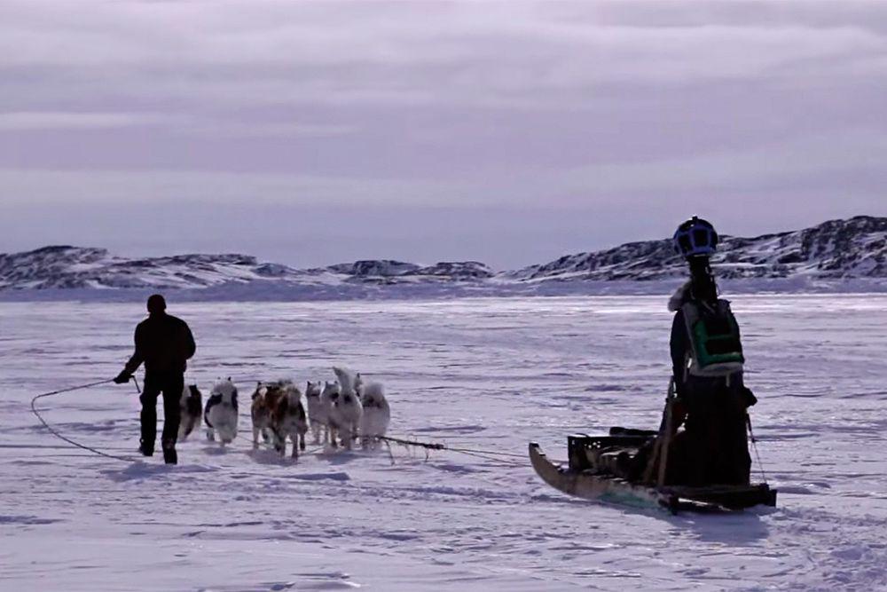 Для съемок Google Street View используется разная техника: от велосипедов до вездеходов. Но были места, такие как Арктика Канады или пески Гизы, куда кроме как на животных (собак, верблюдов) lобраться было невозможно.