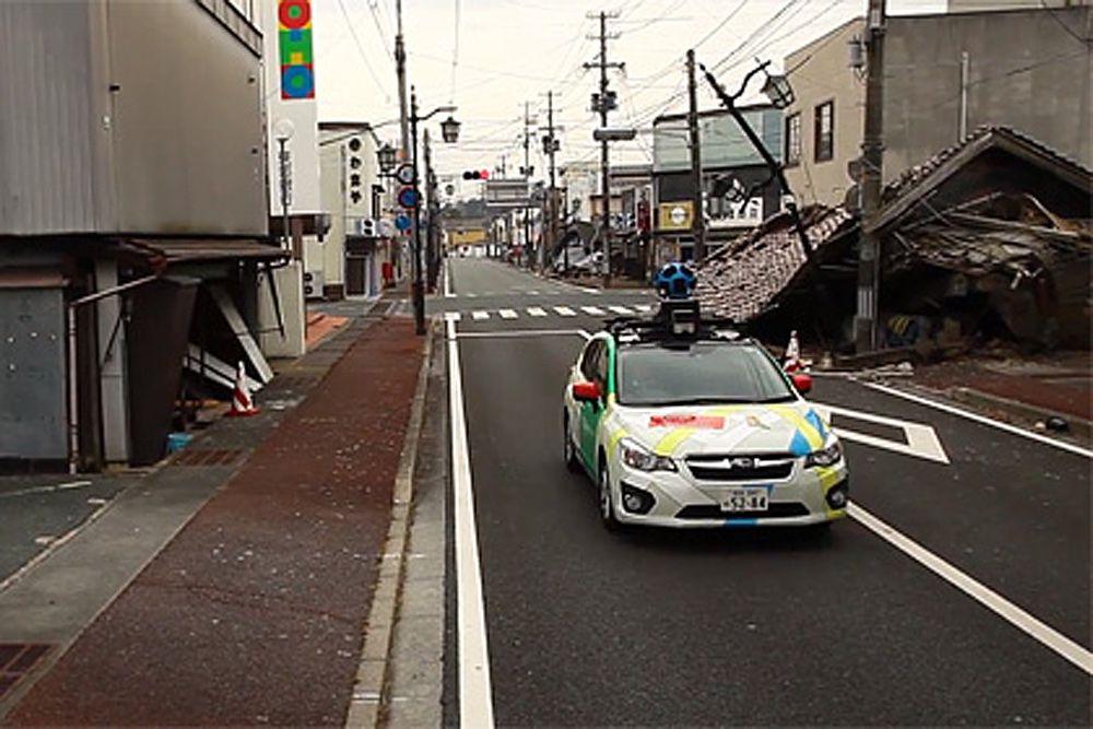 Команда Google Street View сняла улицы города-призрака рядом с «Фукусимой». Намиэ был разрушен в результате стихийного бедствия и аварии на АЭС «Фукусима» весной 2011 года.