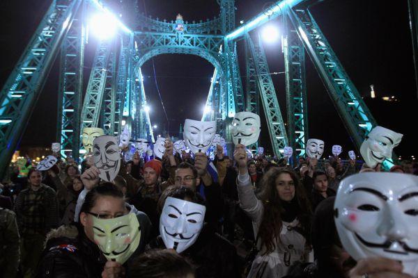 «Марш миллиона масок». Будапешт.