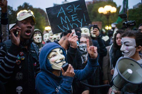 «Марш миллиона масок». Нью-Йорк.