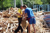 Студенты-строители на практике