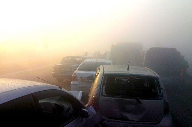 Туман на дорогах