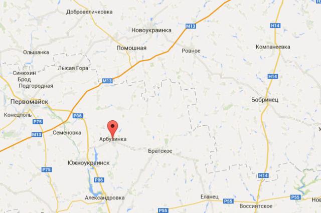 Пгт Арбузинка на картах Google