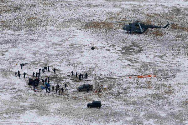 Капсула приземлилась в запланированном районе посадки, примерно в 82 км от казахстанского города Аркалык.