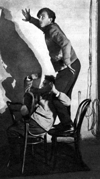 Гарин и Мейерхольд на репетиции