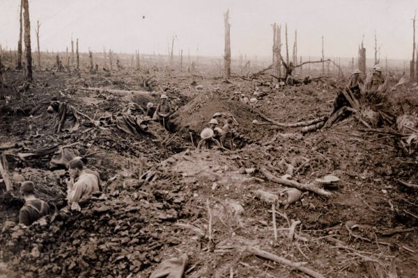 Британские войска на Сомме в 1916 году.