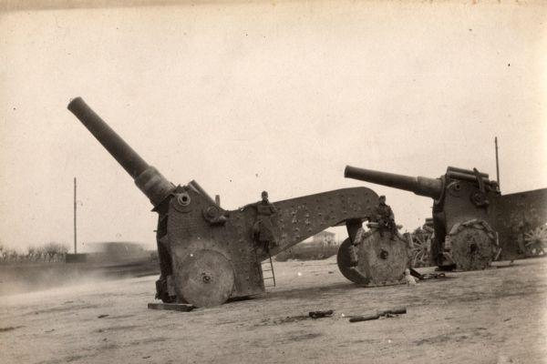 Итальянская тяжелая артиллерия. 1918 год.