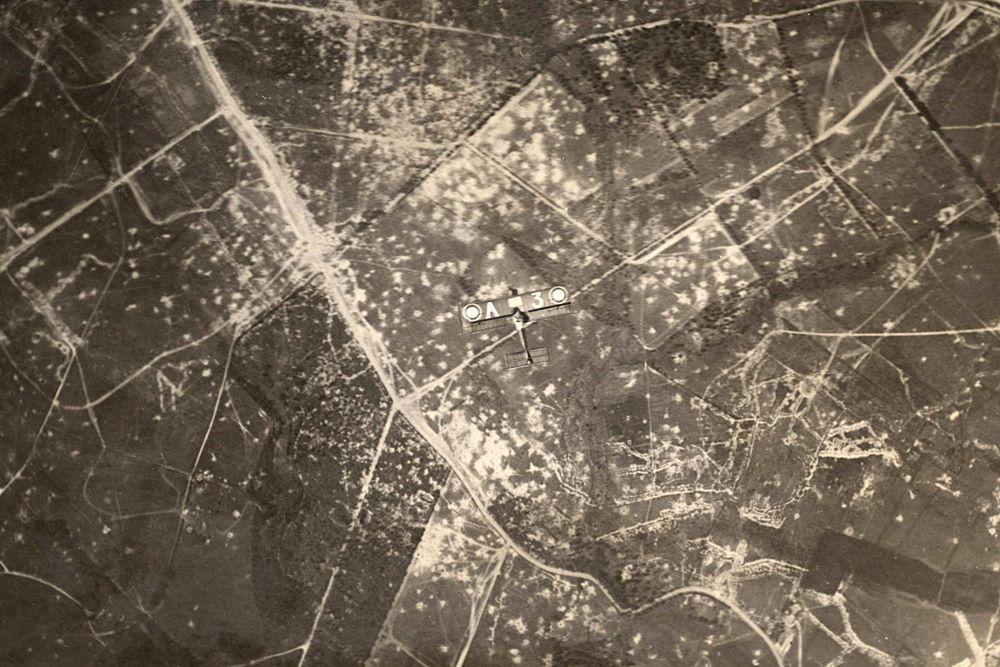 Вид с самолета на Западный фронт.