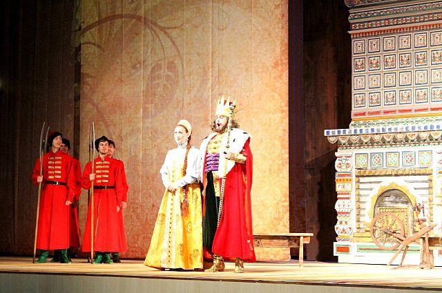 Сцена из оперы «Сказка о царе Салтане».