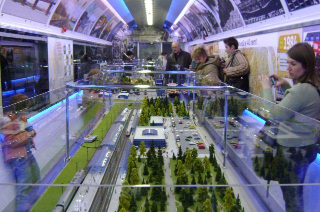 Один из вагонов выставочного комплекса РЖД.