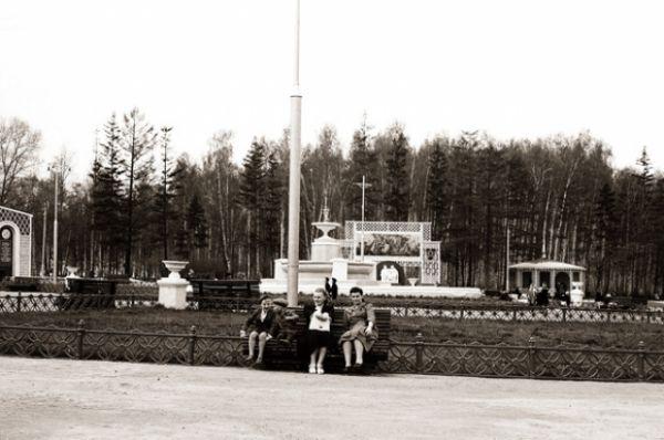Фонтан в центре, 1950-е гг.