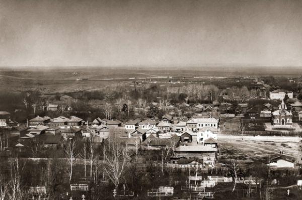 Юго-западная окраина Тулы. В левом верхнем углу - зарождающийся парк.
