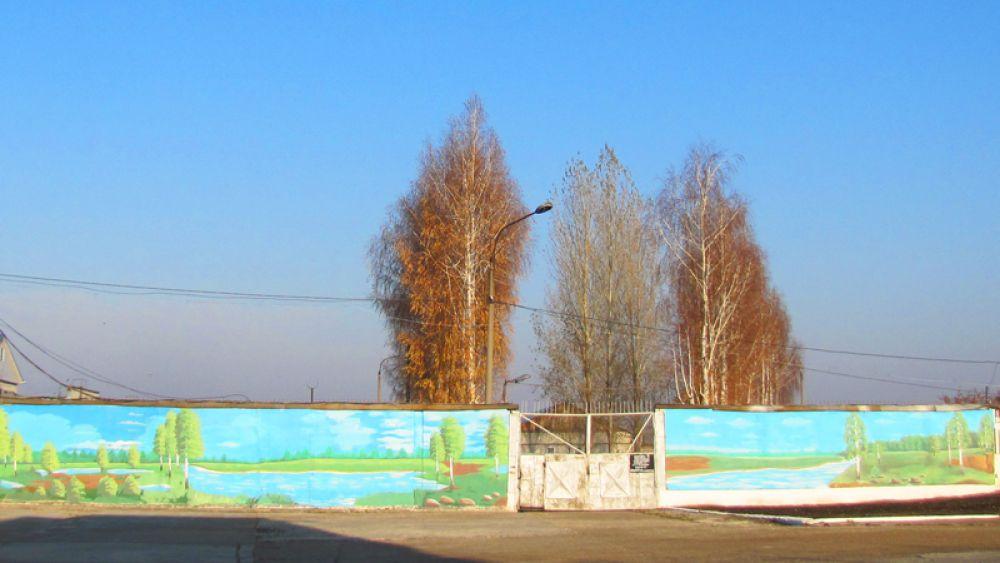 Забор расписан творчески
